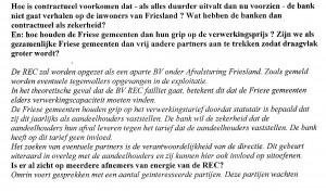 Vrijwaring gemeenten voor faillisement REC